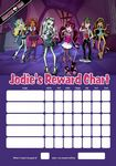 Personalised Monster High Reward Chart (adding photo option available)